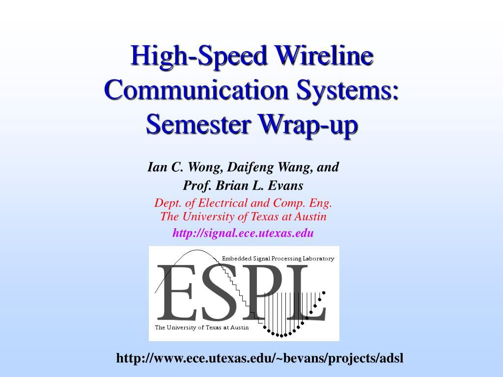High-Speed Wireline