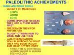paleolithic achievements i