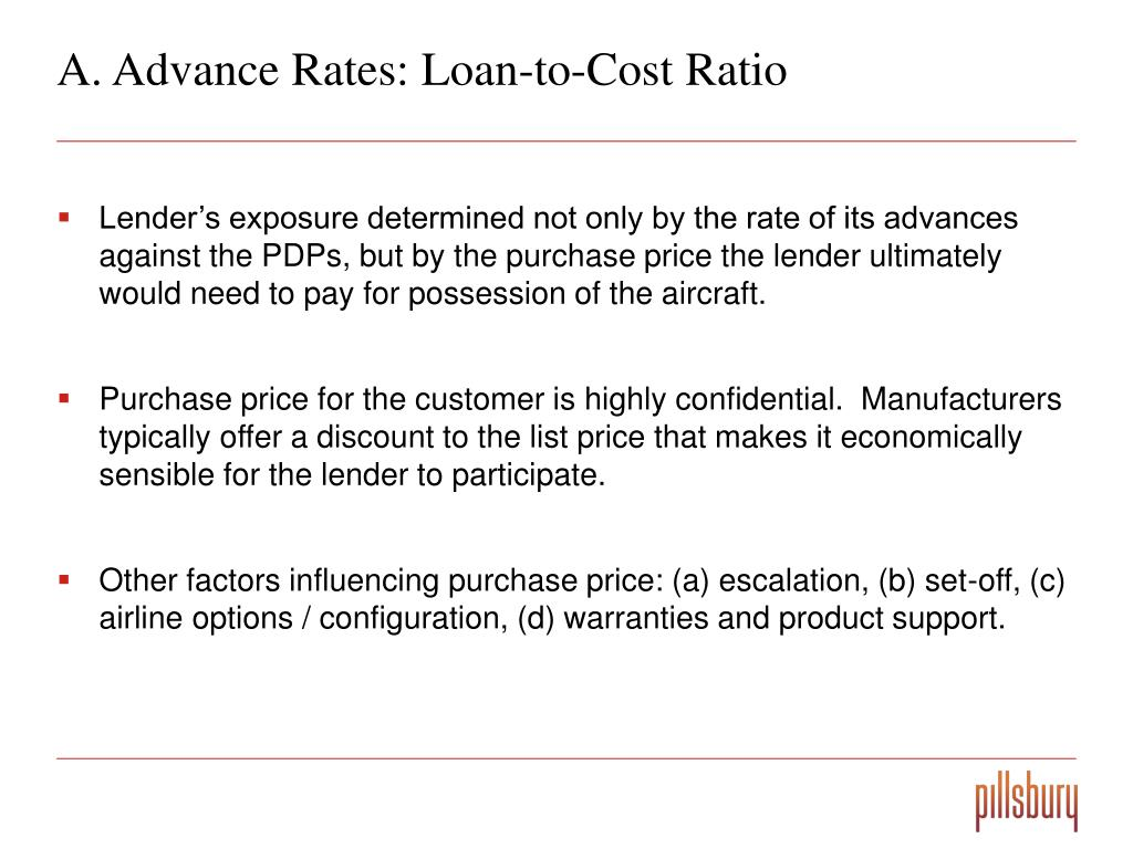 A. Advance Rates: Loan-to-Cost Ratio