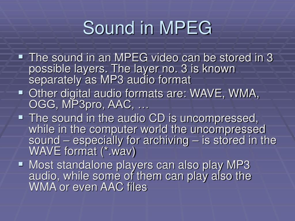 Sound in MPEG