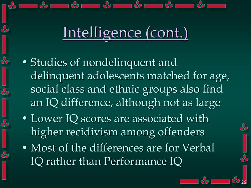 Intelligence (cont.)