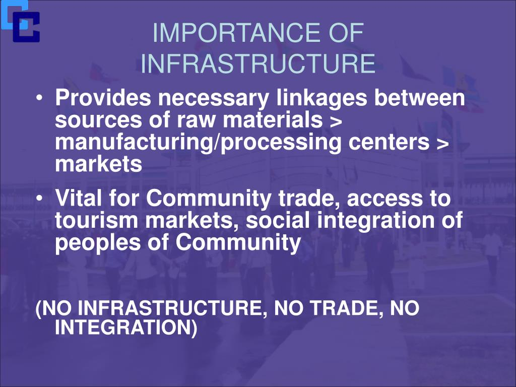 IMPORTANCE OF INFRASTRUCTURE