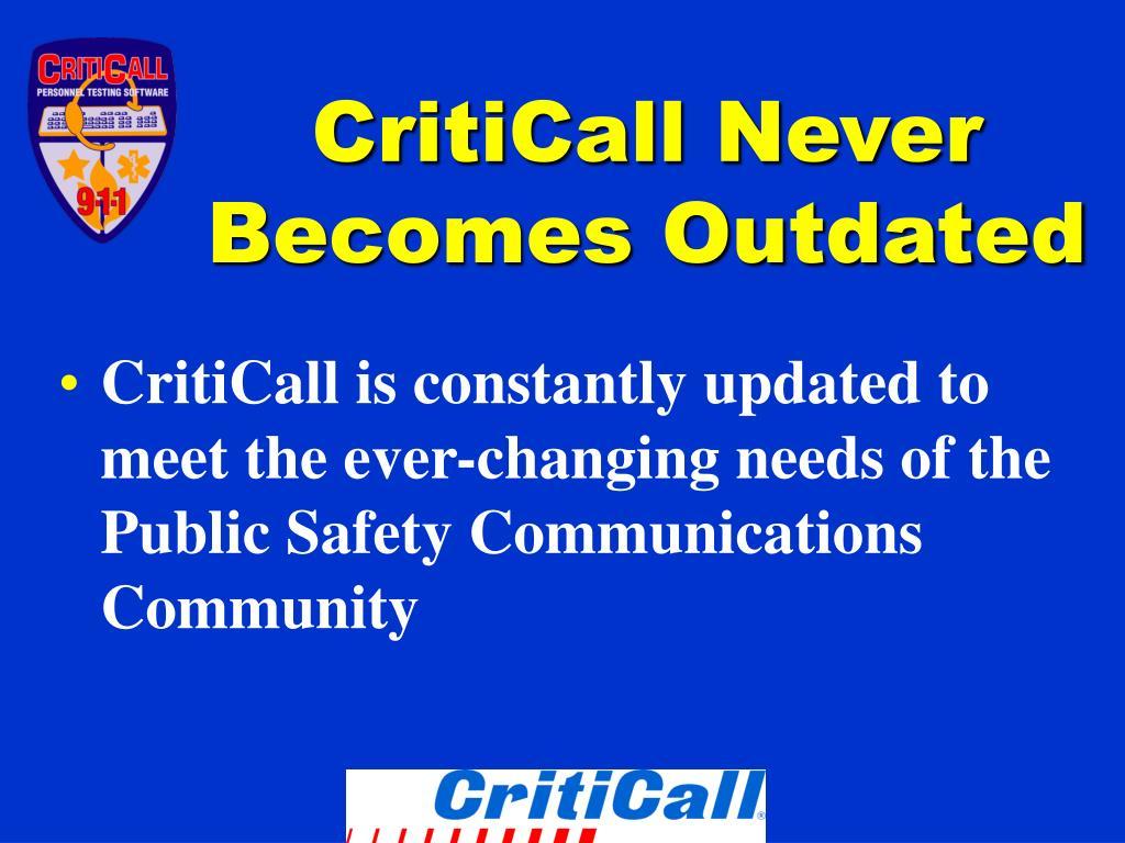 CritiCall Never