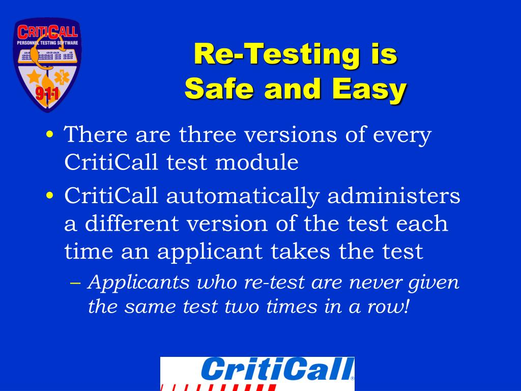 Re-Testing is