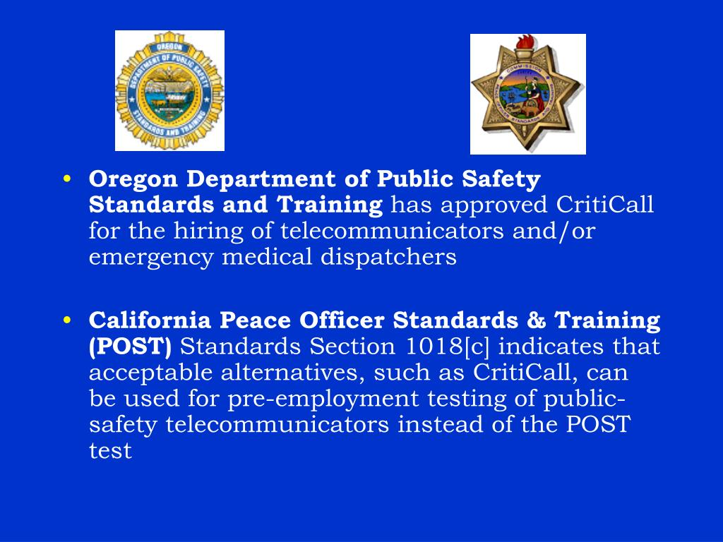 Oregon Department of Public Safety Standards and Training