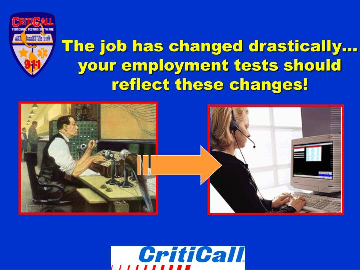 The job has changed drastically your employment tests should reflect these changes l.jpg