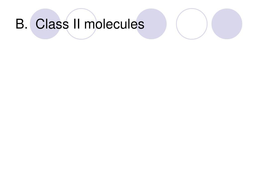 B.  Class II molecules