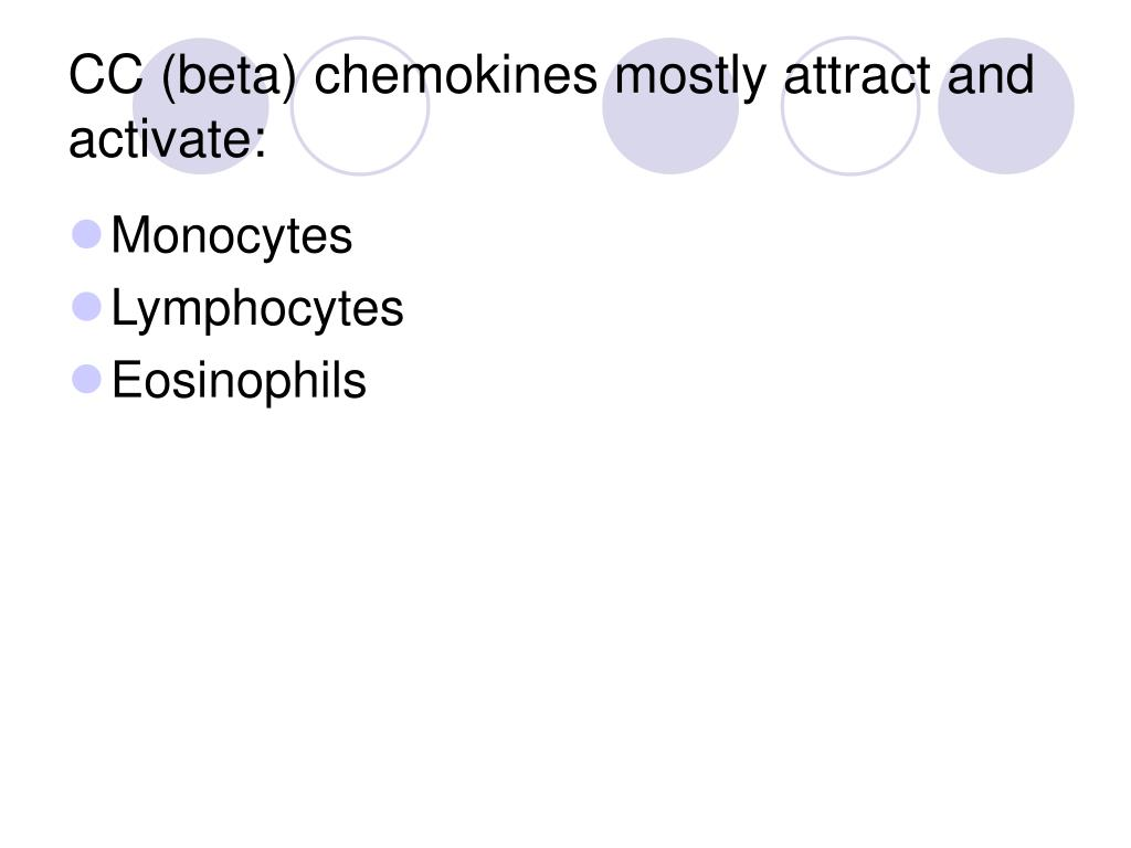 CC (beta) chemokines mostly attract and activate: