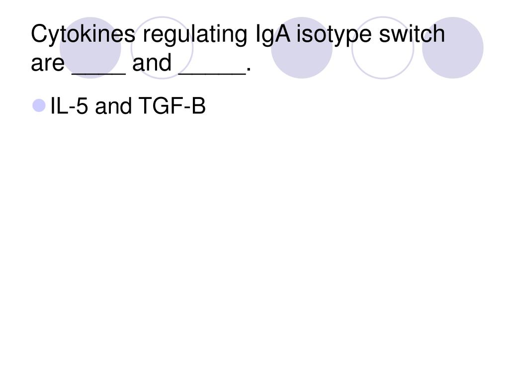 Cytokines regulating IgA isotype switch are ____ and _____.