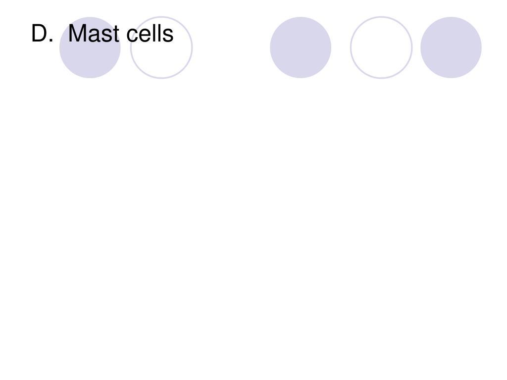 D.  Mast cells
