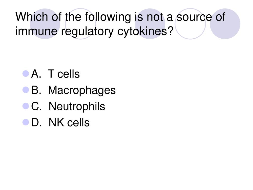 Which of the following is not a source of immune regulatory cytokines?