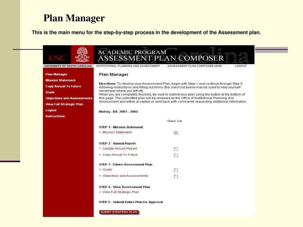Plan Manager