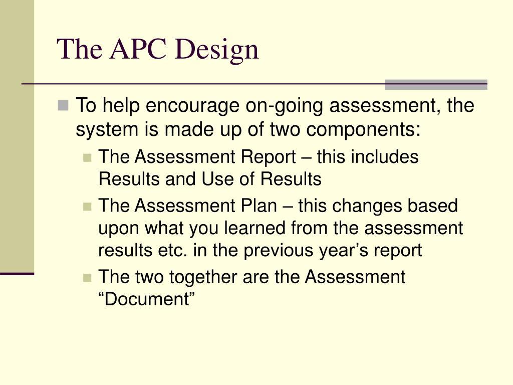 The APC Design