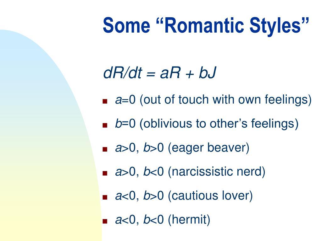 """Some """"Romantic Styles"""""""