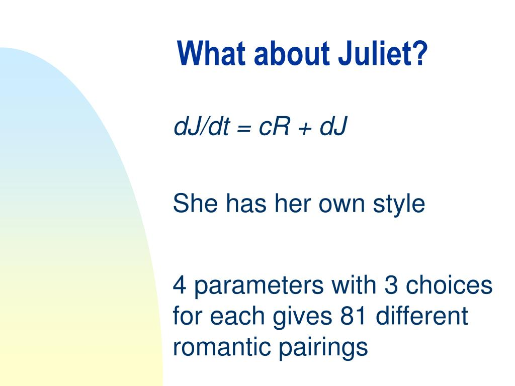 What about Juliet?
