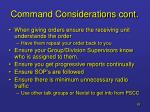 command considerations cont63
