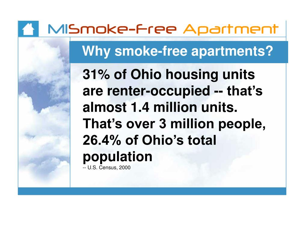 Why smoke-free apartments?