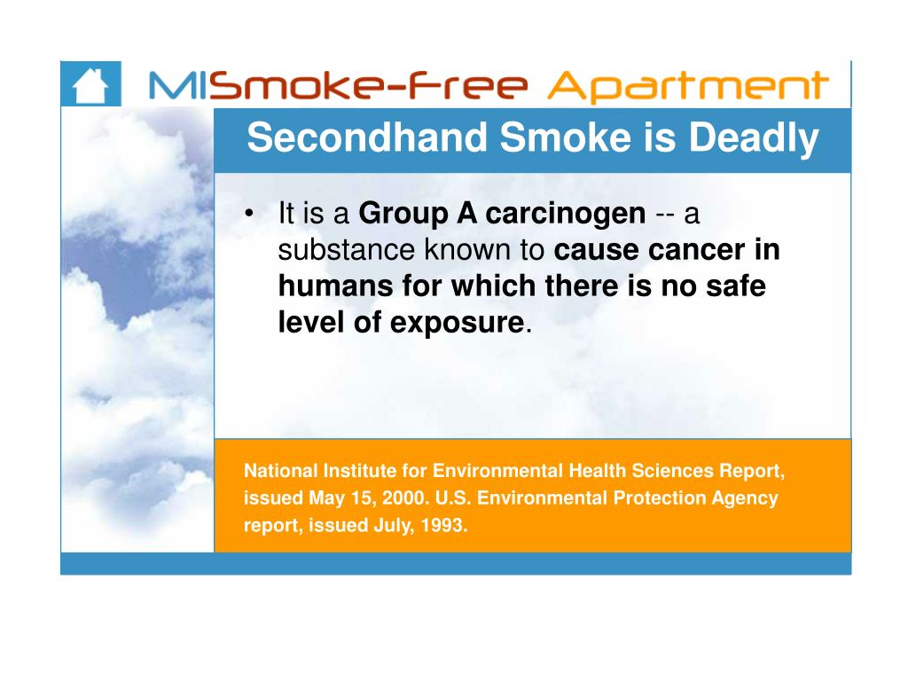 Secondhand Smoke is Deadly