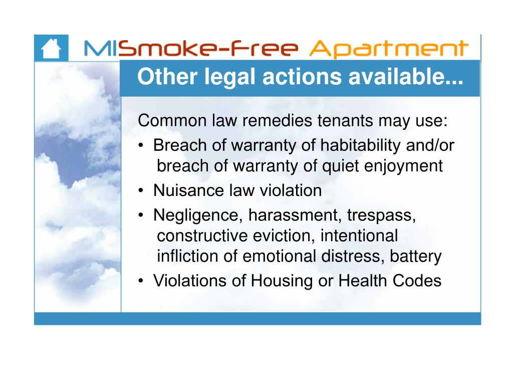 Other legal actions available...