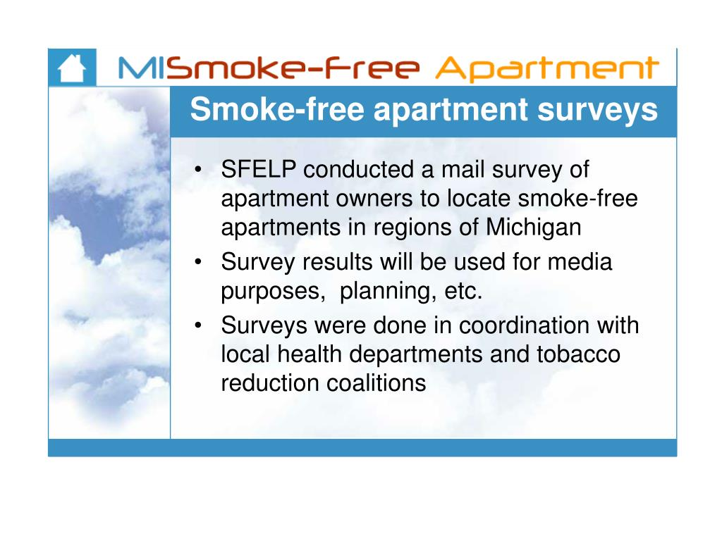 Smoke-free apartment surveys