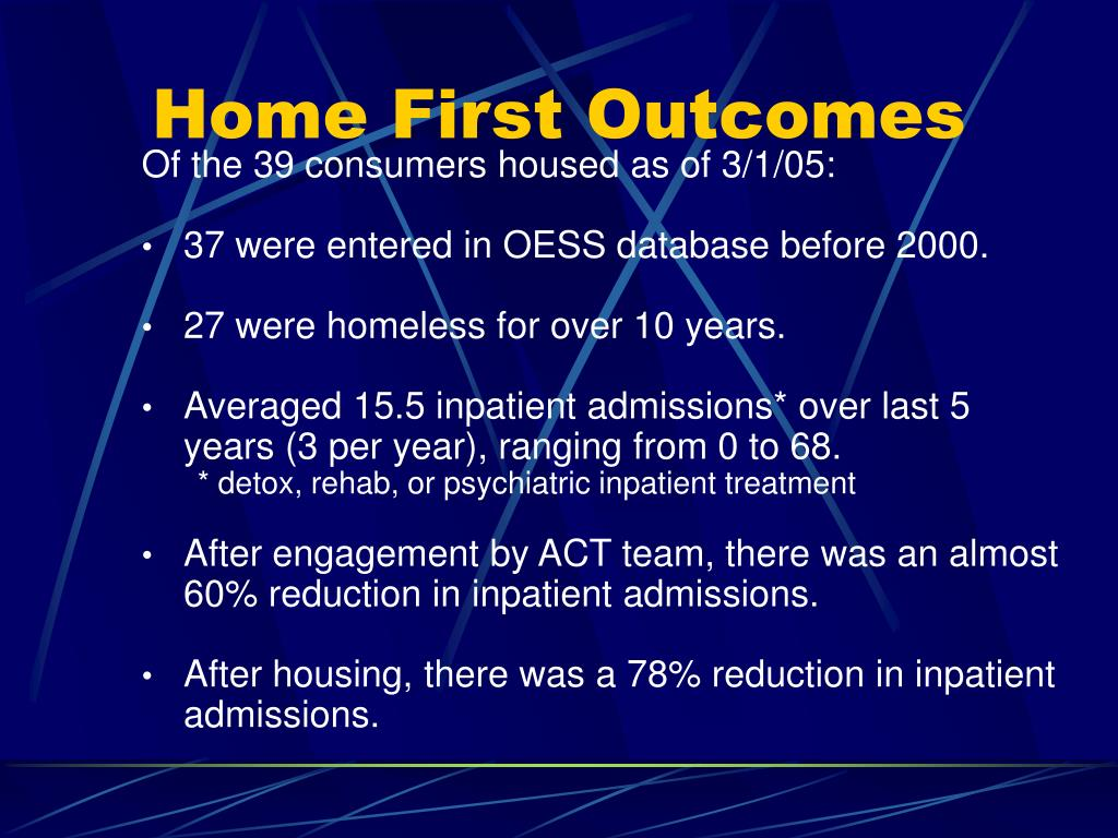 Of the 39 consumers housed as of 3/1/05: