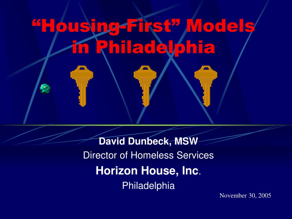 """""""Housing-First"""" Models in Philadelphia"""