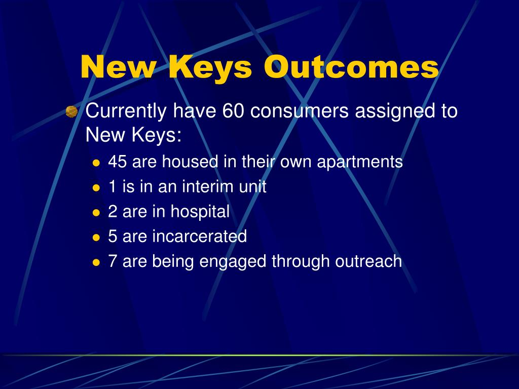 Currently have 60 consumers assigned to New Keys: