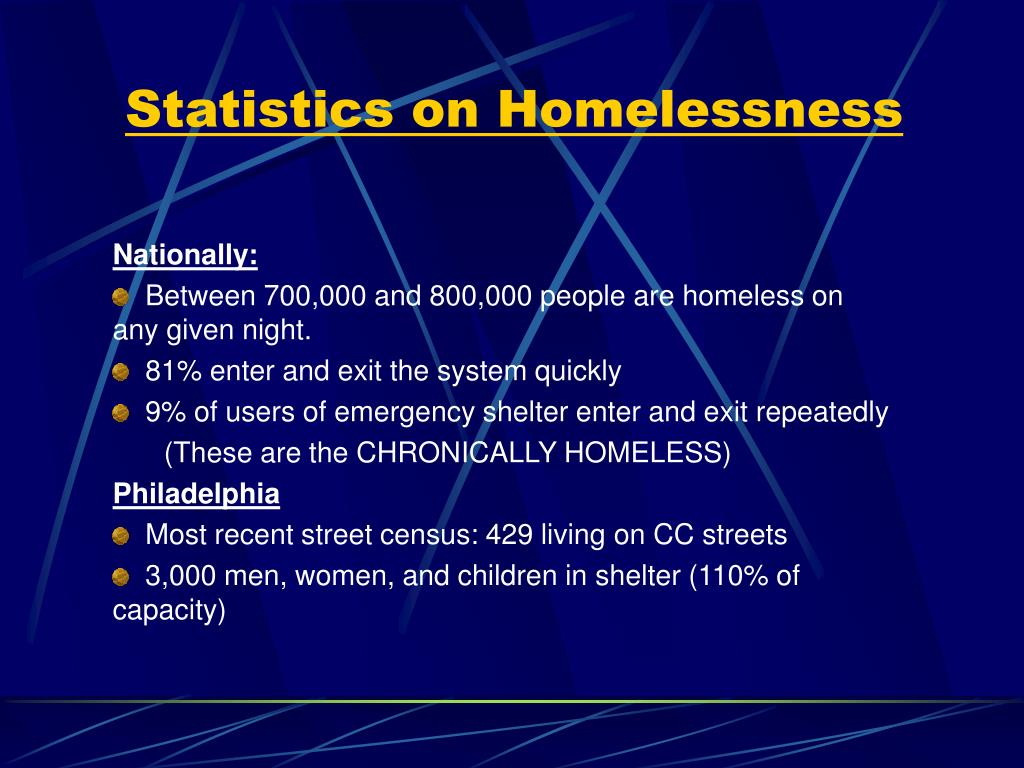 Statistics on Homelessness