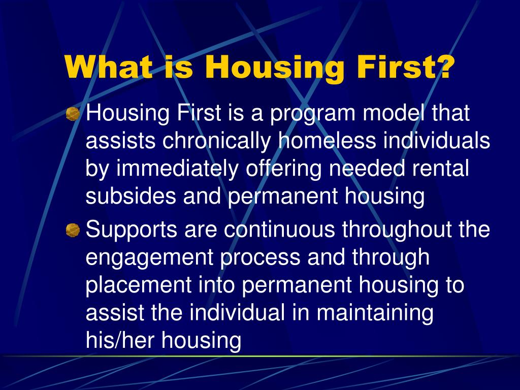 What is Housing First?
