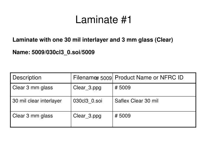 Laminate #1
