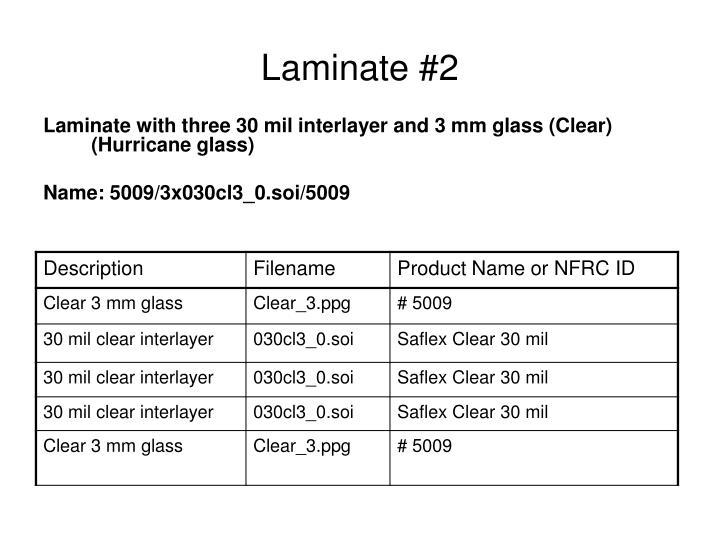 Laminate #2