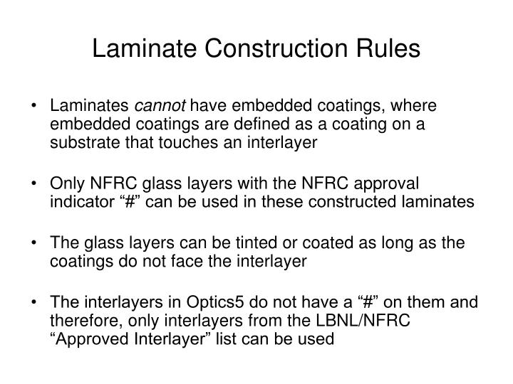 Laminate Construction Rules