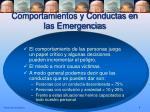 comportamientos y conductas en las emergencias