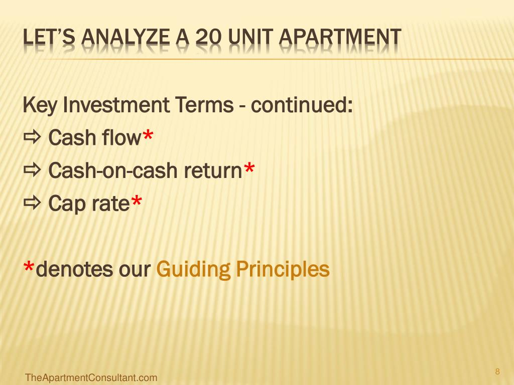 Key Investment Terms - continued: