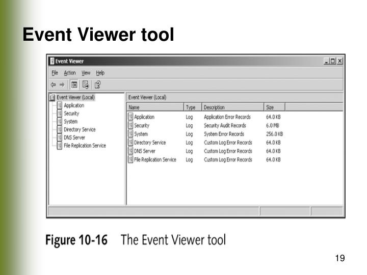 Event Viewer tool