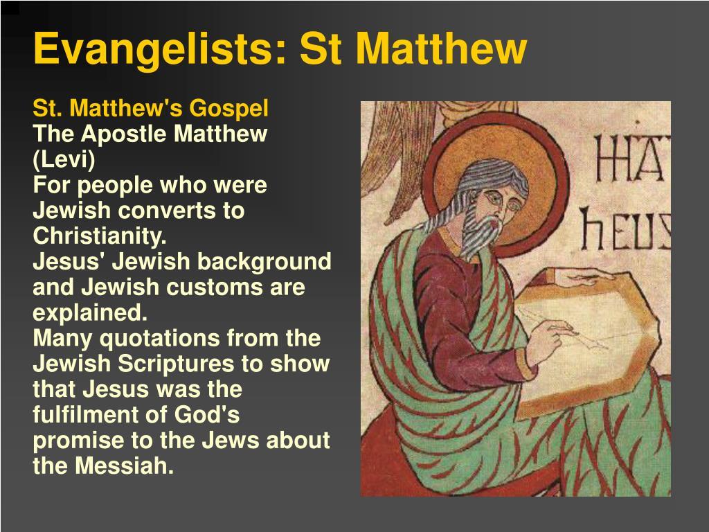 St. Matthew's Gospel