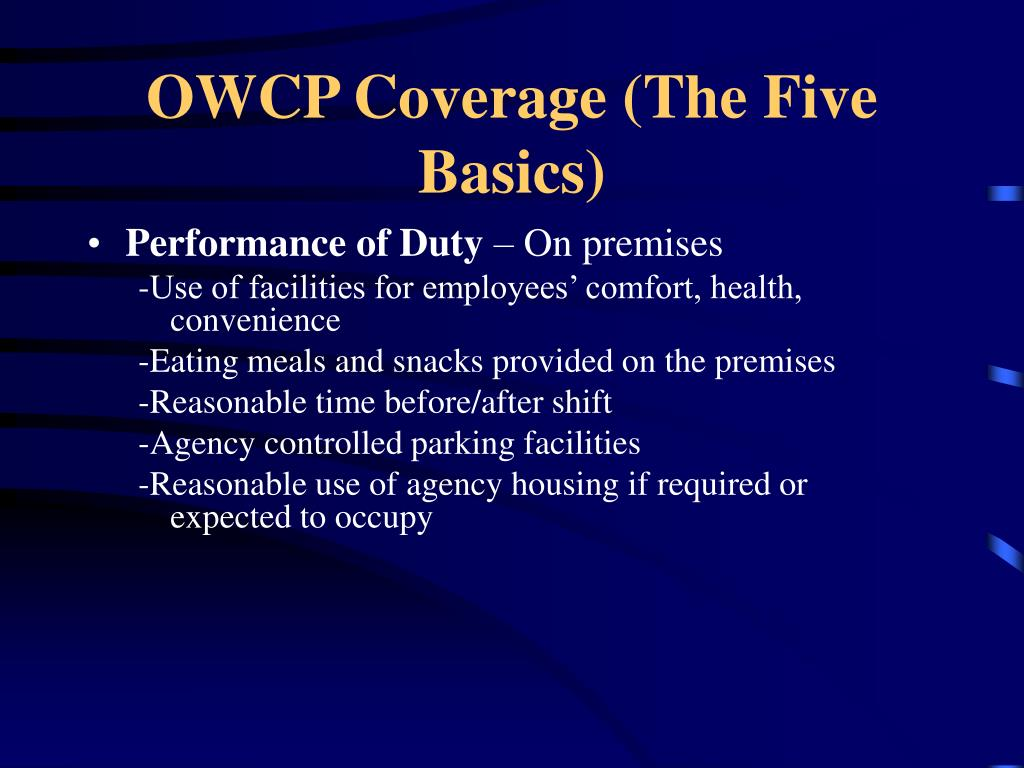 OWCP Coverage (The Five Basics)