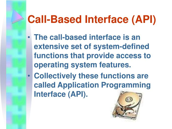 Call-Based Interface (API)