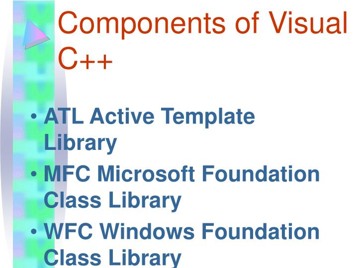 Components of Visual C++