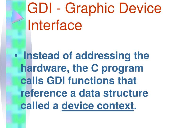 GDI - Graphic Device Interface