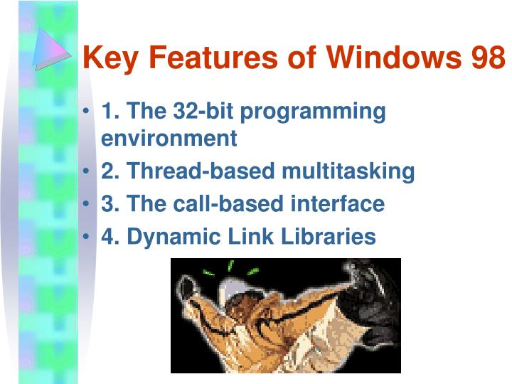 Key features of windows 98