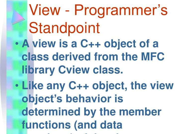 View - Programmer's Standpoint