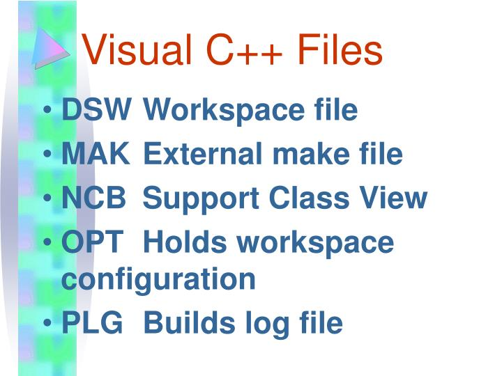 Visual C++ Files