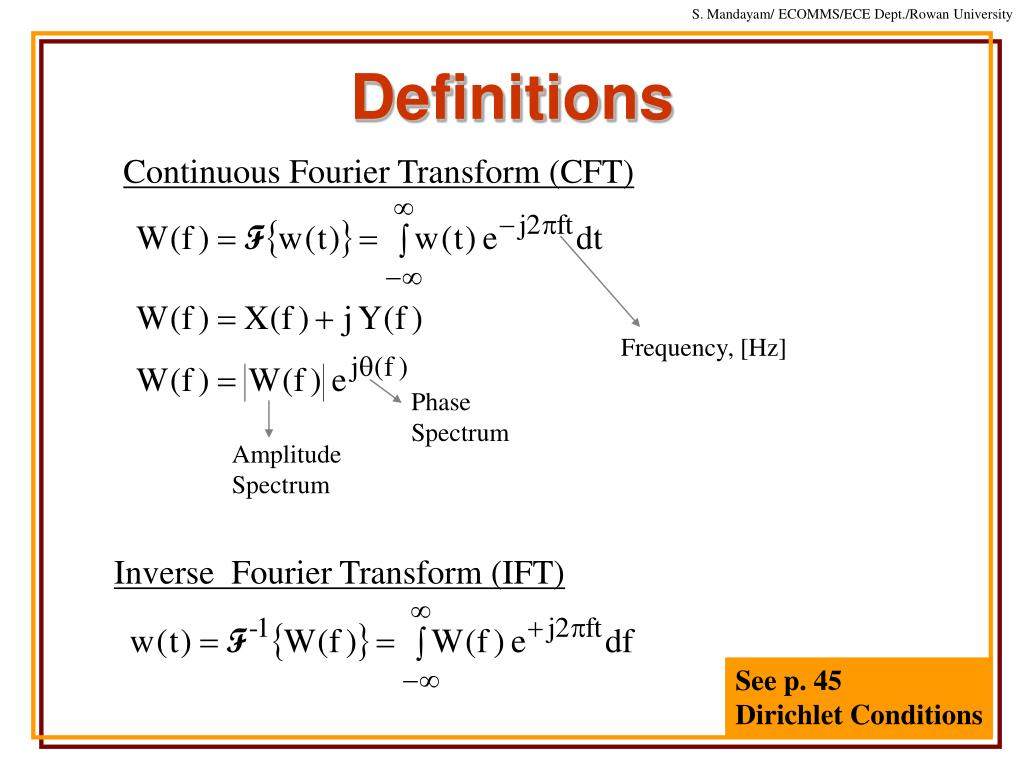 Continuous Fourier Transform (CFT)