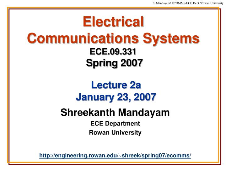 Electrical communications systems ece 09 331 spring 2007 l.jpg