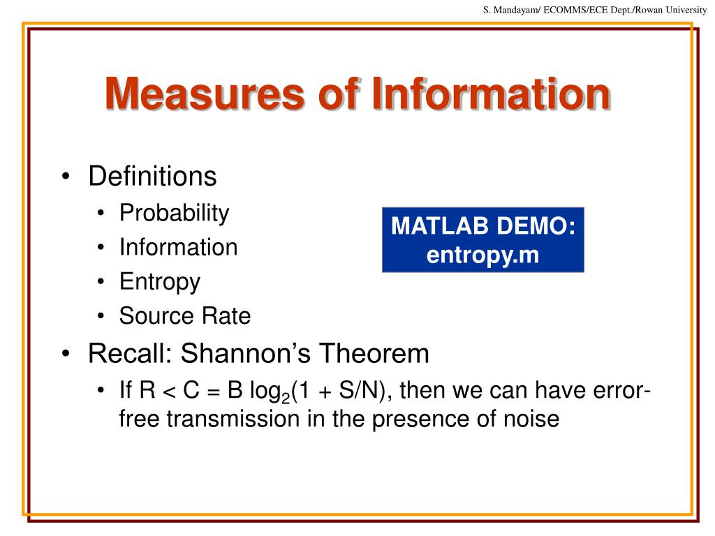 Measures of Information