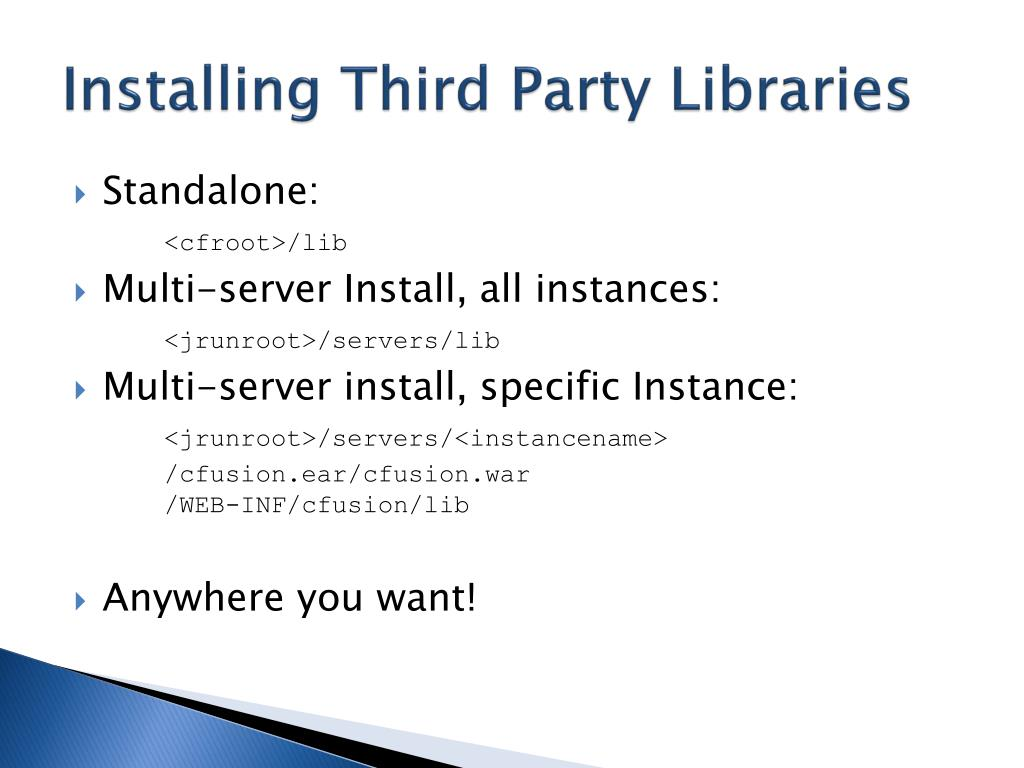 Installing Third Party Libraries