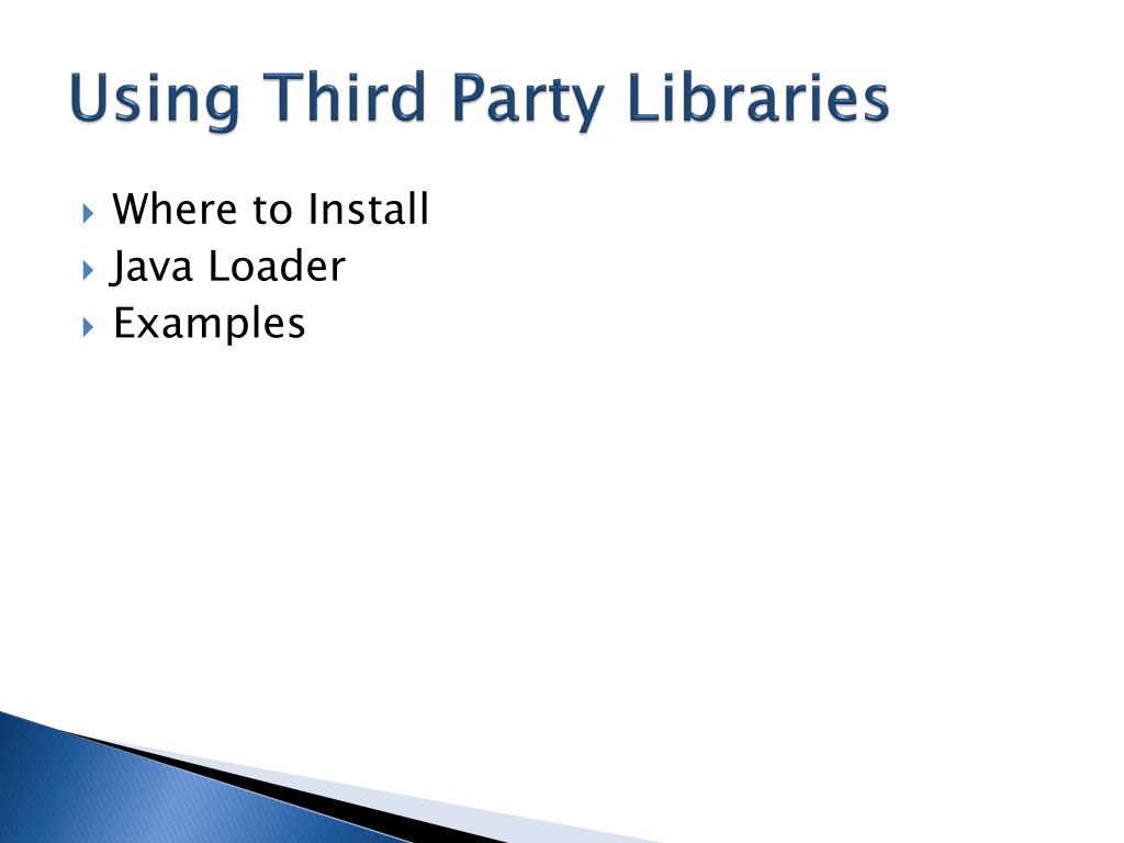 Using Third Party Libraries