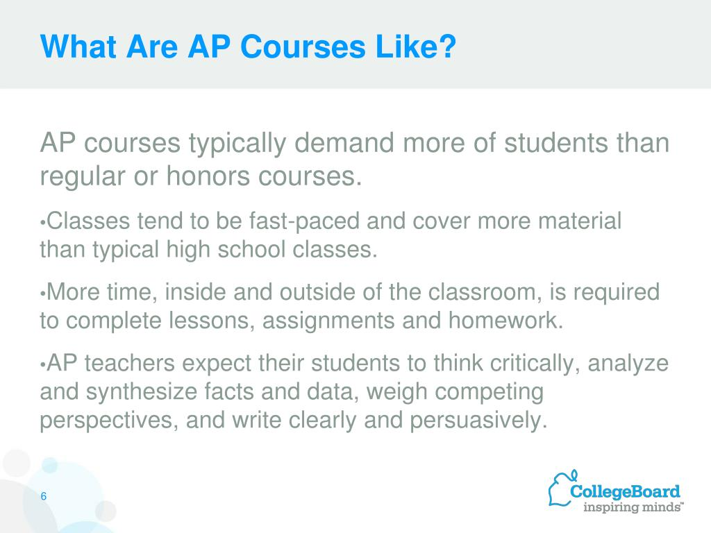 What Are AP Courses Like?