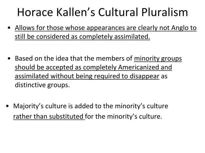 Horace Kallen's Cultural Pluralism